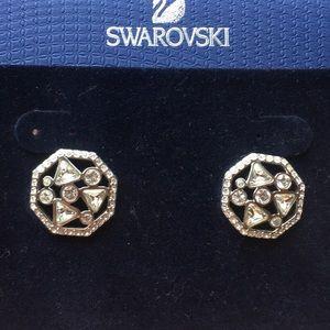 Swarovski surface pierced earrings